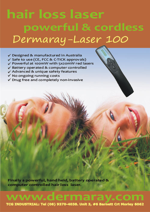 Dermaray Laser hair loss comb | Most powerful and safer than Sunetics Laser Brush.